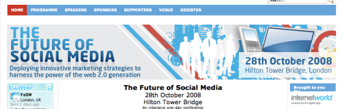 Website for the Future of Social Media conference